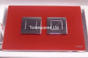 Crystal Polished Red Pneumatic Flush Plate